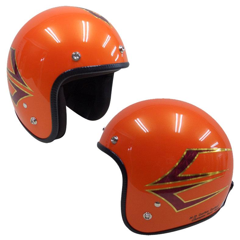 ☆送料無料☆CUSTOM 72JAMJET SpindleSO(サンセットオレンジ)ジェットヘルメット