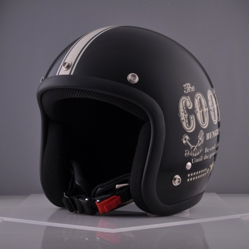 CUSTOM 72JAMJET Cools HUNGRY MAN BLACKジェットヘルメット