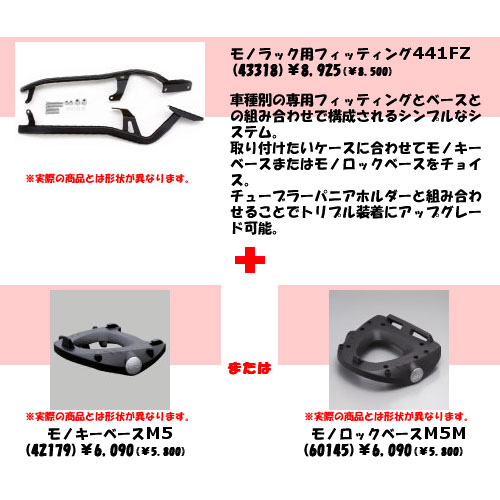 GIVI(ジビ) トップケース装着用フィッティングカワサキ ZZR1200 ZX1200C1