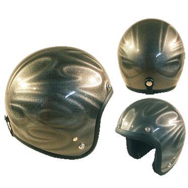 72JAMJET GHOST TRIBAL シルバージェットヘルメット
