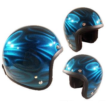 72JAMJET GHOST TRIBAL ブルージェットヘルメット