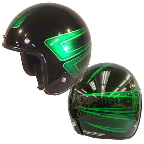 ☆送料無料☆CUSTOM 72JAMJET SCALLOP GRジェットヘルメット