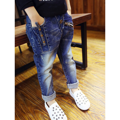 d33a87a1173 Kids clothes kids clothes boys girls trousers pants long pants jeans denim  G bread jeans damage button Chuck top-selling 02P01Oct16