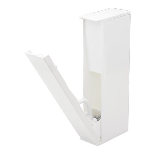 スタイリッシュなトイレタワー トイレブラシ r+style 手数料無料 トイレステーション ホワイト BB-133 トイレ掃除用品 春の新作続々 おしゃれ スリム
