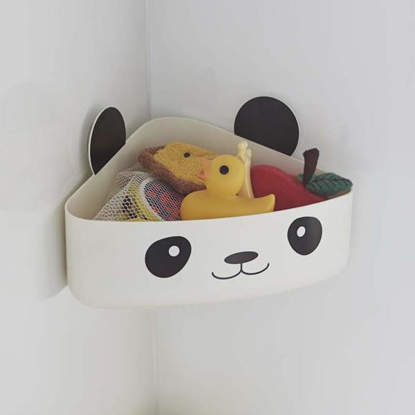 バスルームのおもちゃ入れに便利なかわいい動物のおもちゃBOX 山崎実業 おもちゃ入れ 公式ストア キッズ バスラック 2639 パンダ お風呂 収納 賜物