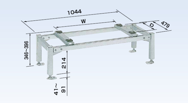 オーケー器材 PAキーパー 平置台 ステンレス K-KHS103G