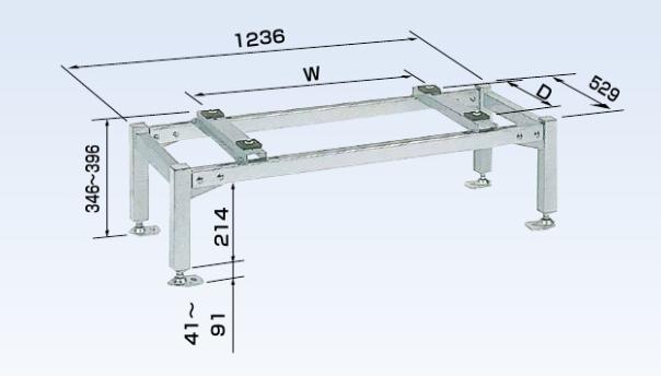 オーケー器材 PAキーパー 平置台 ステンレス K-KHS153G
