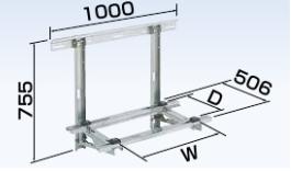 (キャッシュレス5%還元)オーケー器材 PAキーパー 壁面置台 ステンレス K-KKS10G