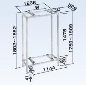 (キャッシュレス5%還元)オーケー器材 PAキーパー 二段置台 ステンレス K-KWS15G
