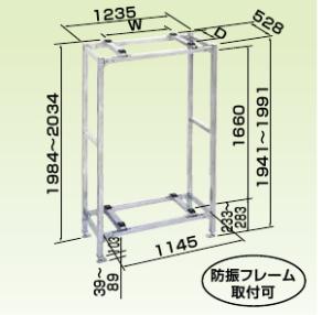 オーケー器材 PAキーパー 二段置台 溶融亜鉛メッキ仕上げ K-KWZ15G2
