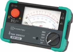 (キャッシュレス5%還元)(送料無料)共立電気計器 KYORITSU 3432 3レンジアナログ絶縁抵抗計