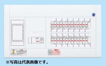 (キャッシュレス5%還元)パナソニック BQW37222 住宅分電盤 標準タイプ リミッタースペース付 22+2 75A