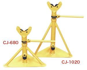 (キャッシュレス5%還元)ジェフコム デンサン 通線工具 ケーブルジャッキ(ローラー軸受式)2台セット CJ-1020