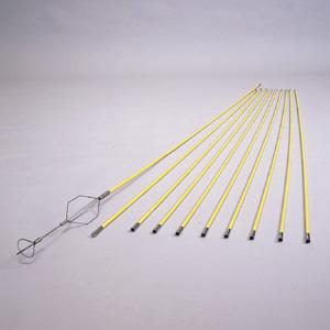 (キャッシュレス5%還元)(法人様宛限定)ジェフコム デンサン 通線工具 ジョイントグラスライン(継ぎ足し式ロッドタイプ) GL-0820S