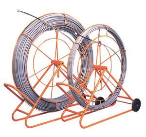 (キャッシュレス5%還元)ジェフコム デンサン 通線工具 シルバーグラスライン(FRP製/PP被覆タイプ) 線+フレーム GL-1420RS