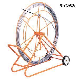 (キャッシュレス5%還元)ジェフコム デンサン 通線工具 シルバーグラスライン(FRP製/PP被覆タイプ) 線のみ GW-0930