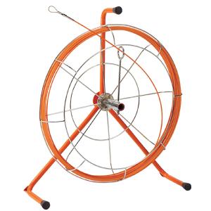 (キャッシュレス5%還元)ジェフコム デンサン 電設作業工具 ジョイント釣り名人 リール入り長尺タイプ 15m ロッド+フレーム JF-4015RS
