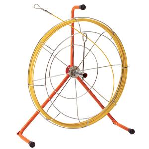 (キャッシュレス5%還元)ジェフコム デンサン 電設作業工具 ジョイント釣り名人 リール入り長尺タイプ 30m ロッド+フレーム JF-4330RS