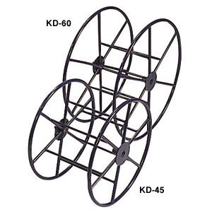 (キャッシュレス5%還元)ジェフコム デンサン 電設作業工具 システマーケーブルリール KD-45