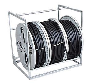 (キャッシュレス5%還元)ジェフコム デンサン 電設作業工具 プラマジックリール アンダーロール大(3連) PM-LU3