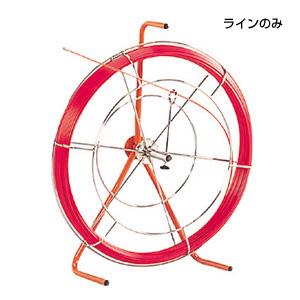 (キャッシュレス5%還元)ジェフコム デンサン 通線工具 ファイバーレッドライン(FRP製/被覆なしタイプ) 線のみ RG-0506