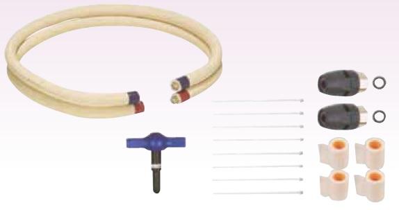 (キャッシュレス5%還元)(送料無料)東洋アルチタイト TA-EC305P TA-ECパイプ ワンタッチ式配管パック 5m