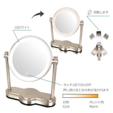 (キャッシュレス5%還元)アイキャッチ EC014LXAC-5X 真実の鏡 Luxe クラシック型
