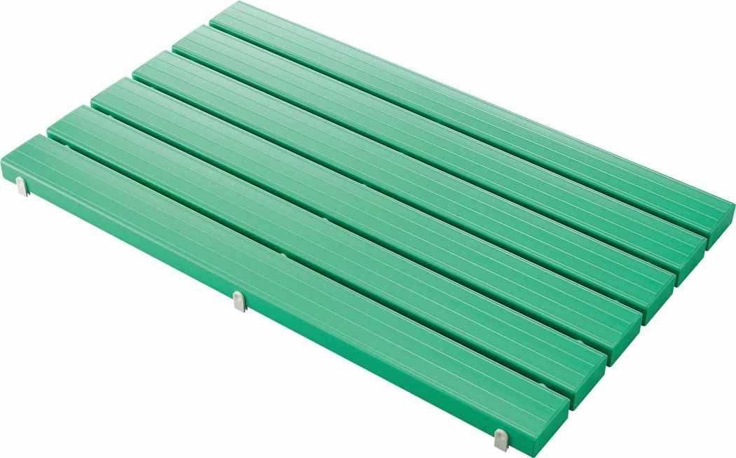 (キャッシュレス5%還元)山崎産業 コンドル YSカラースノコ・セフティ抗菌キャップ付き(L型)グリーン F-115-3-L-G (代引き不可)