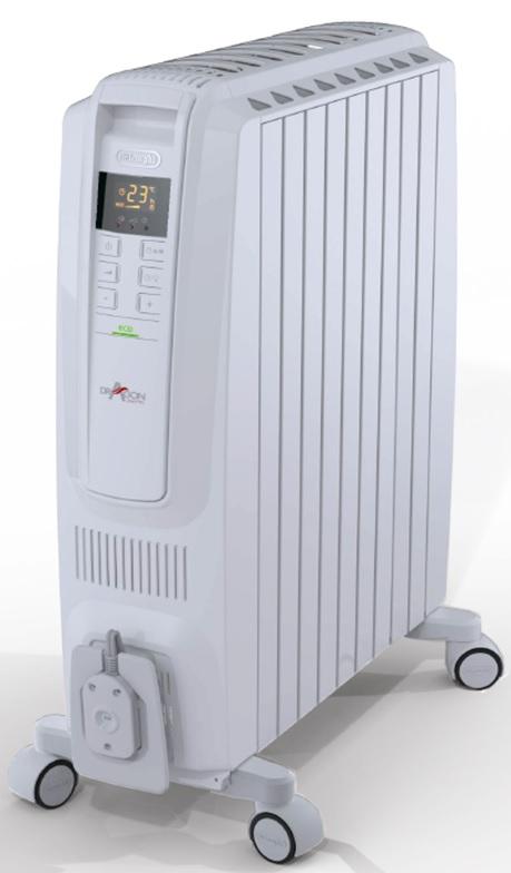 (最大450円OFFクーポン有)(送料無料)デロンギ QSD0915-WH ドラゴンデジタルスマート オイルヒーター 約10~13畳