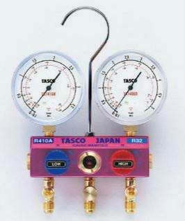 (キャッシュレス5%還元)タスコ TASCO TA122GB R410A/R32ボールバルブ式ゲージマニホールド