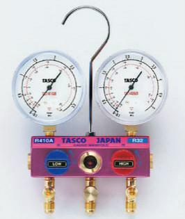 (キャッシュレス5%還元)タスコ TASCO TA122GBH-2 R410A/R32ゲージマニホールドキット