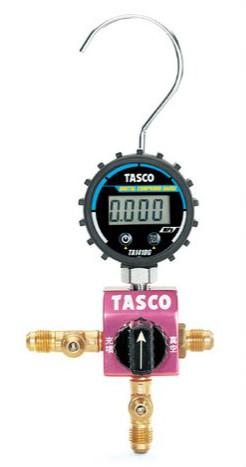 (キャッシュレス5%還元)タスコ TASCO TA123DVG-1 ボールバルブ式デジタルシングルマニホールドキット