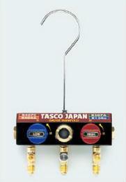 (キャッシュレス5%還元)タスコ TASCO TA124K-11 ボールバルブ式ゲージマニホールドボディ