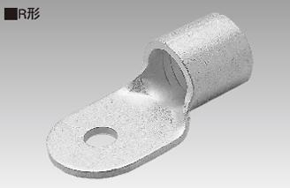 (キャッシュレス5%還元)ニチフ 銅線用 裸圧着端子 丸形 R形 R60-8 【100個入】