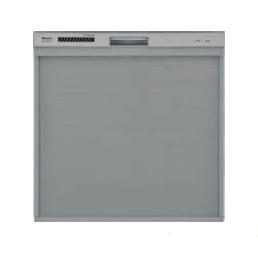 (代引き不可)(送料無料)リンナイ RKW-404A-SV ビルトイン食器洗い乾燥機 化粧パネル対応 シルバー
