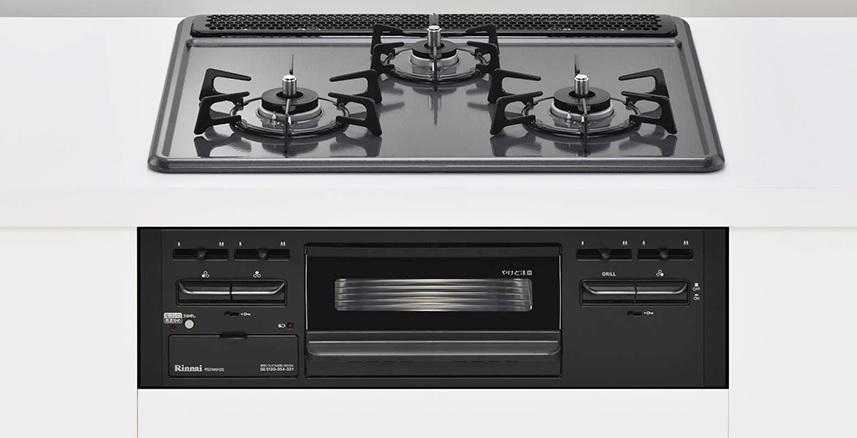 (送料無料)リンナイ RS31M5H2SBW 都市ガス用 ビルトインコンロ メタルトップシリーズ 幅60cm
