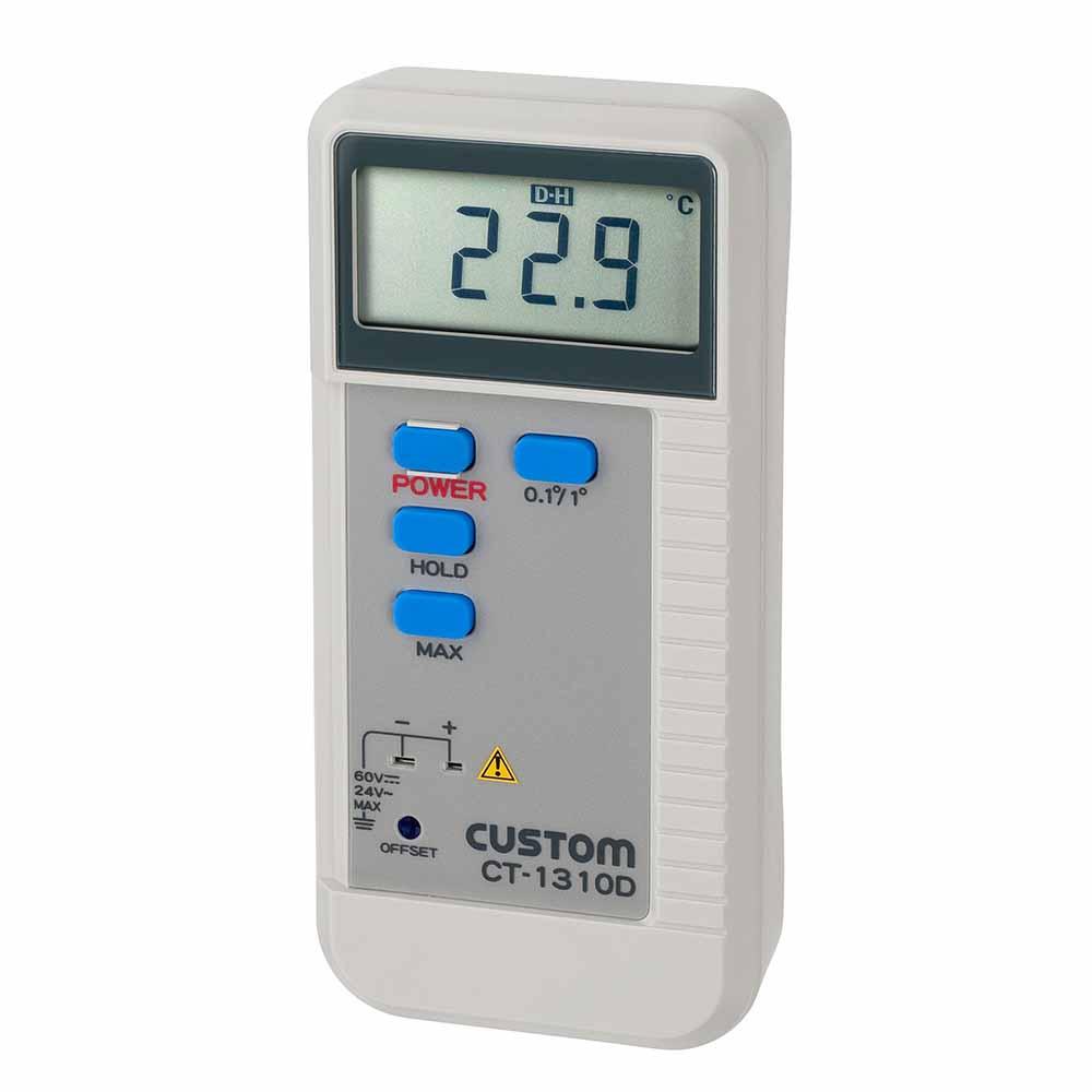 カスタム CT-1310D デジタル温度計(Kタイプ 1ch)