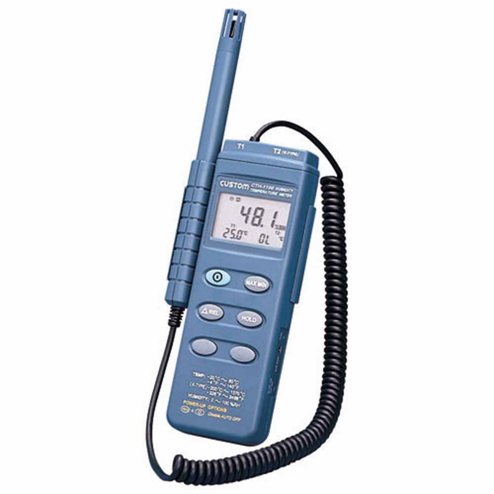 (キャッシュレス5%還元)カスタム CTH-1100 デジタル温湿度計