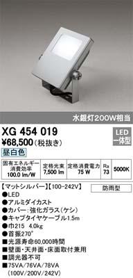 オーデリック XG454019 屋外用LEDハイパワー投光器