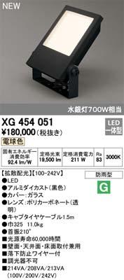 (キャッシュレス5%還元)オーデリック XG454051 屋外用LEDハイパワー投光器