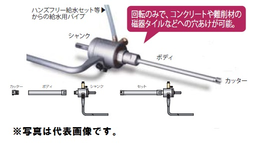 ミヤナガ DM08550BST ミストダイヤドリル ネジタイプ セット