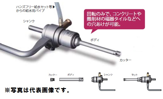 ミヤナガ DMA09050BST ミストダイヤドリル ワンタッチタイプ セット
