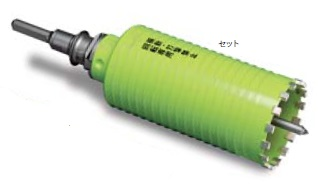 (キャッシュレス5%還元)ミヤナガ PCB85 ブロック用ドライモンドコアドリル セット 85mm