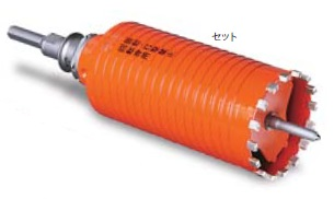 (キャッシュレス5%還元)ミヤナガ PCD38 ドライモンドコアドリル セット 38mm