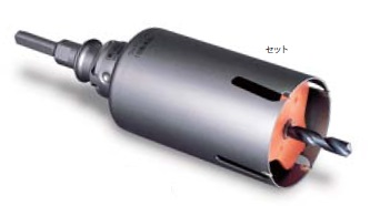 (キャッシュレス5%還元)ミヤナガ PCWS22R ウッディングコアドリル セット SDSプラスシャンク 22×130
