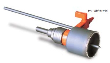 (キャッシュレス5%還元)ミヤナガ SLT038RPB タイルホールソー ハンズフリー給水セット付 SDSプラスシャンク 38mm