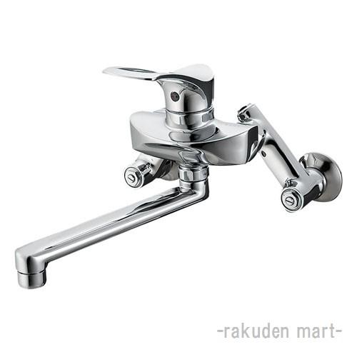 (キャッシュレス5%還元)三栄水栓 SANEI K1712-3U-13 シングル混合栓 キッチン用