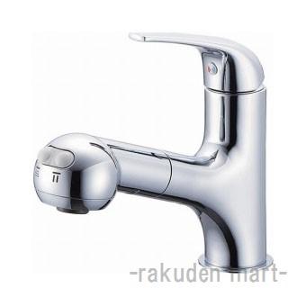 (キャッシュレス5%還元)三栄水栓 SANEI K3703JK-13 シングルスプレー混合栓(洗髪用) 洗面所用