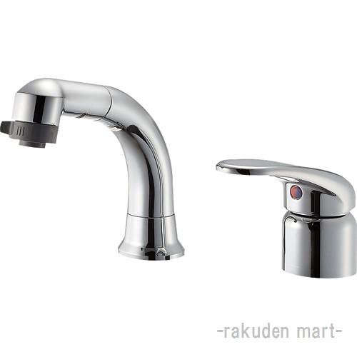 (キャッシュレス5%還元)三栄水栓 SANEI K37110EJK-C-13 シングルスプレー混合栓(洗髪用) 洗面所用