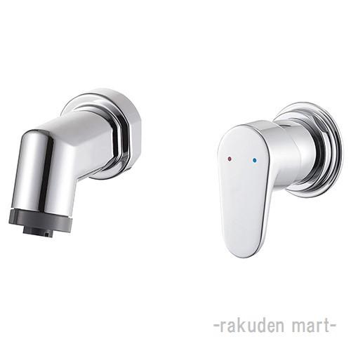 (キャッシュレス5%還元)三栄水栓 SANEI K3715EV-13 シングルスプレー混合栓(壁出) 洗面所用